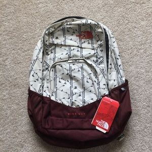 The North Face backpack book bag school